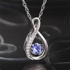 Dancing Tanzanite Necklace