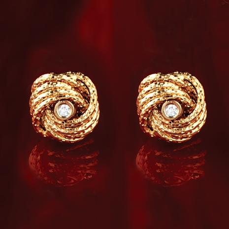 14K Italian Gold Nodo D'Amore  Earrings