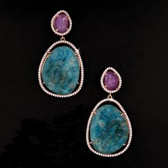 Apatite & Amethyst Rarity Earrings