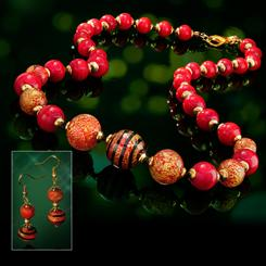 Natale Murano Collection Necklace & Earrings