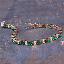 Stress Free Glamour Bracelet in Emerald Green (11 3/4 ctw)