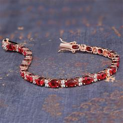 Stress Free Glamour Bracelet in Ruby Red (11-3/4 ctw)
