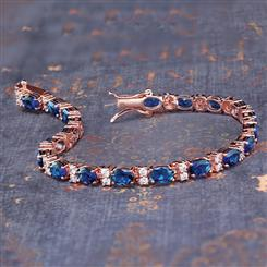 Stress-Free Glamour Bracelet in Sapphire Blue (11 3/4 ctw)