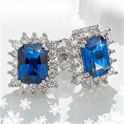 Royal Blue DiamondAura Earrings