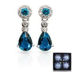 Sapphire Blue Gemdrop Earrings plus 4 Ornaments
