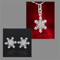 Snowflake Romance Necklace & Earrings