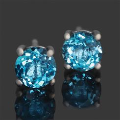 London Blue Topaz Night Sky Earrings