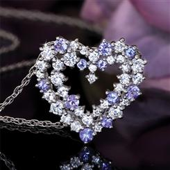 Tanzanite In Love Pendant