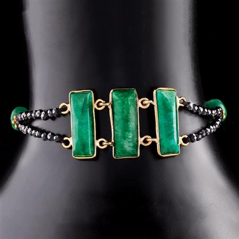 Speakeasy Emerald and Black Spinel Bracelet