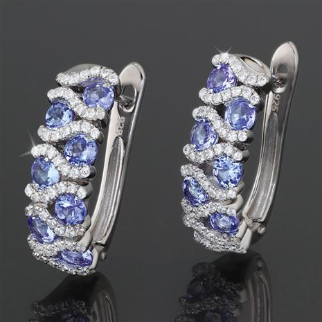 Tanzanite Hugs Earrings