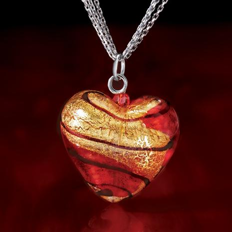 Heart of Venice Murano Pendant