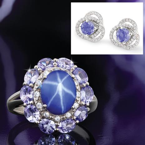 Scienza® Sapphire & Tanzanite Starstruck Ring & Earrings
