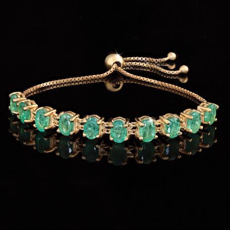 Sweet Dreams Zambian Emerald Bracelet 40887 Stauer Com