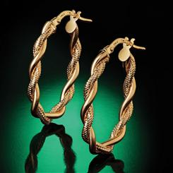 14K Italian Gold Contorto Earrings