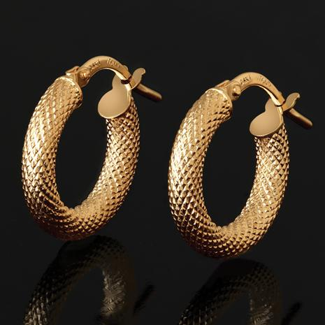 14K Gold Strutturato Hoop Earrings