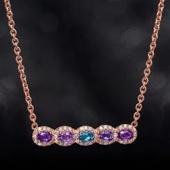 Amethyst & London Blue Topaz Necklace