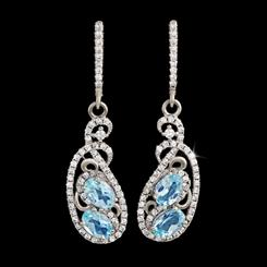 Blue Topaz Indulgence Earrings