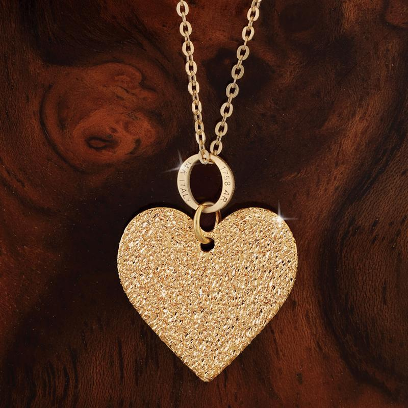 14K Italian Gold Heart Necklace