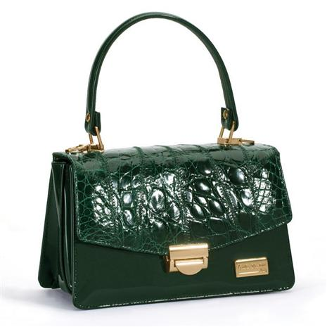 Italian Leather Vero Coccodrillo Handbag