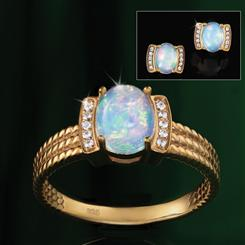 Opal Mood Ring Collection