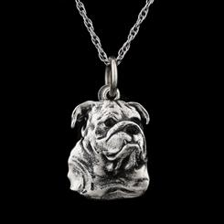 Best Friends English Bulldog Necklace