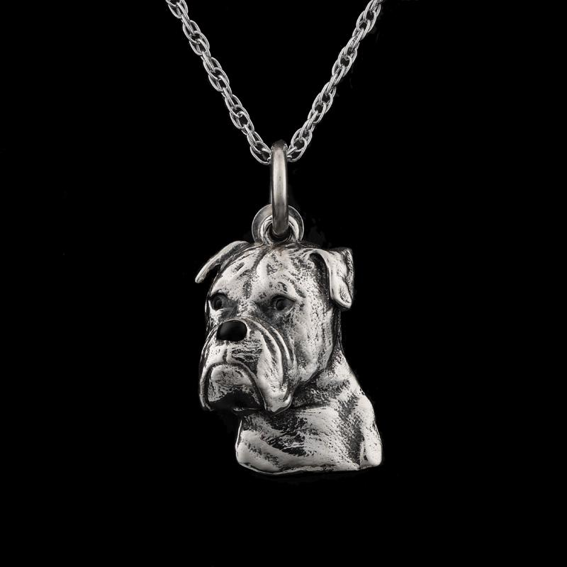 Best Friends Boxer Necklace