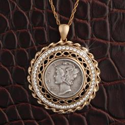 Mercury Dime Pendant and Chain