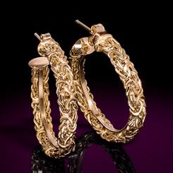 14K Italian Gold Aria Earrings