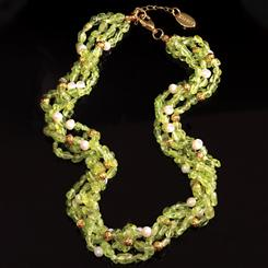 Peridot & Pearl Fusion Necklace