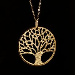 14K Italian Gold Tree of Life Pendant