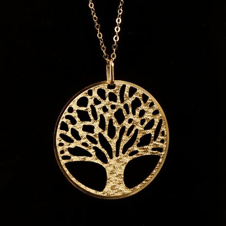 14K Italian Gold Tree of Life Pendant and Chain