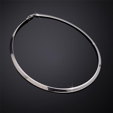 Omega d'Argento Sterling Silver Necklace