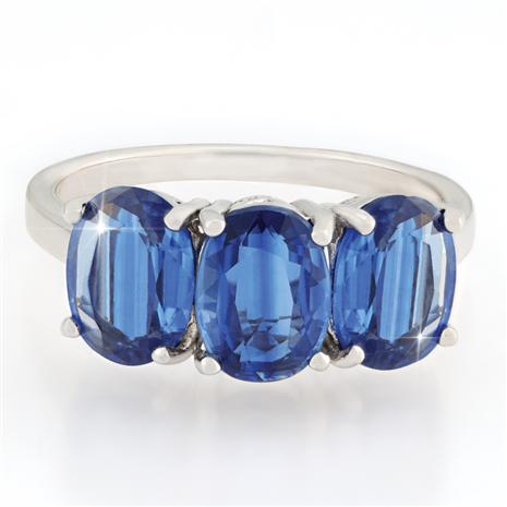 Blue Kyanite Trinity Ring