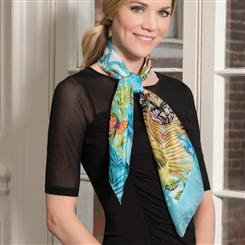 Farfalla Italian Scarf With FREE Venezia Murano Watch