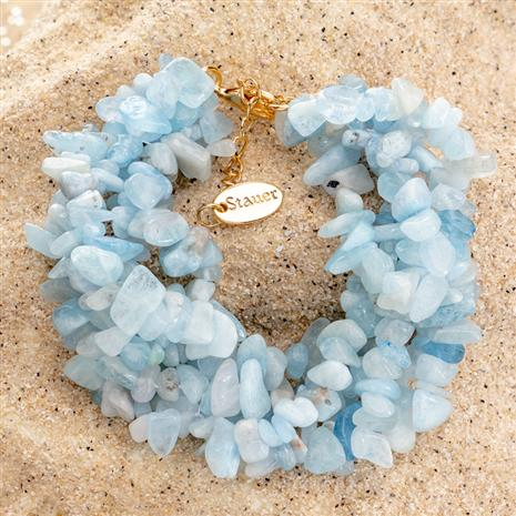 Aquamarine Splash Bracelet