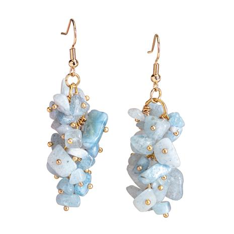 Aquamarine Splash Earrings