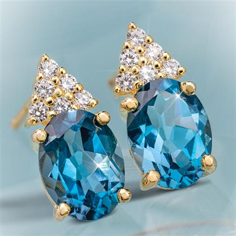 London Blue Topaz Decadence Earrings