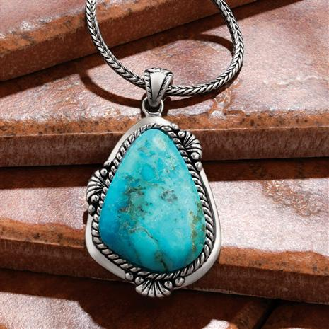 Sedona Turquoise Pendant and Chain