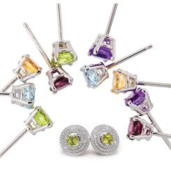Ear Candy Gemstone Collection & Earring Jackets