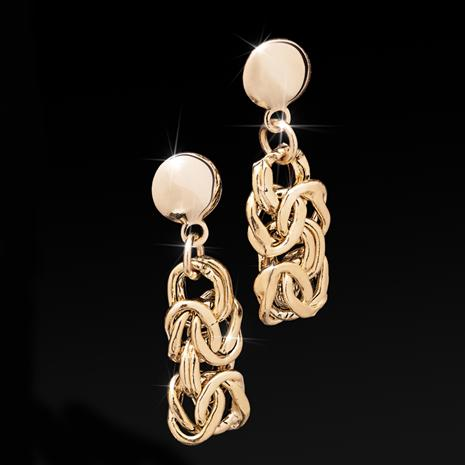 Lustro Earrings in 18K Italian Gold-finished Sterling Silver