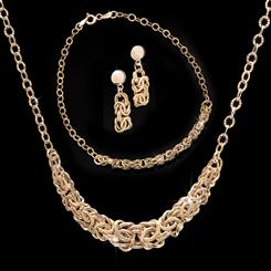 Lustro Collection in 18K Italian Gold-finished Sterling Silver