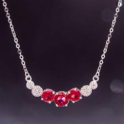 Classic Elegance Necklace (Red)