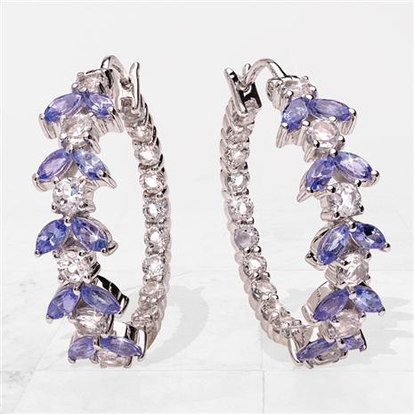 Tanzanite Celebration Hoop Earrings