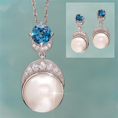 Pearl & London Blue Topaz Moonlight Collection