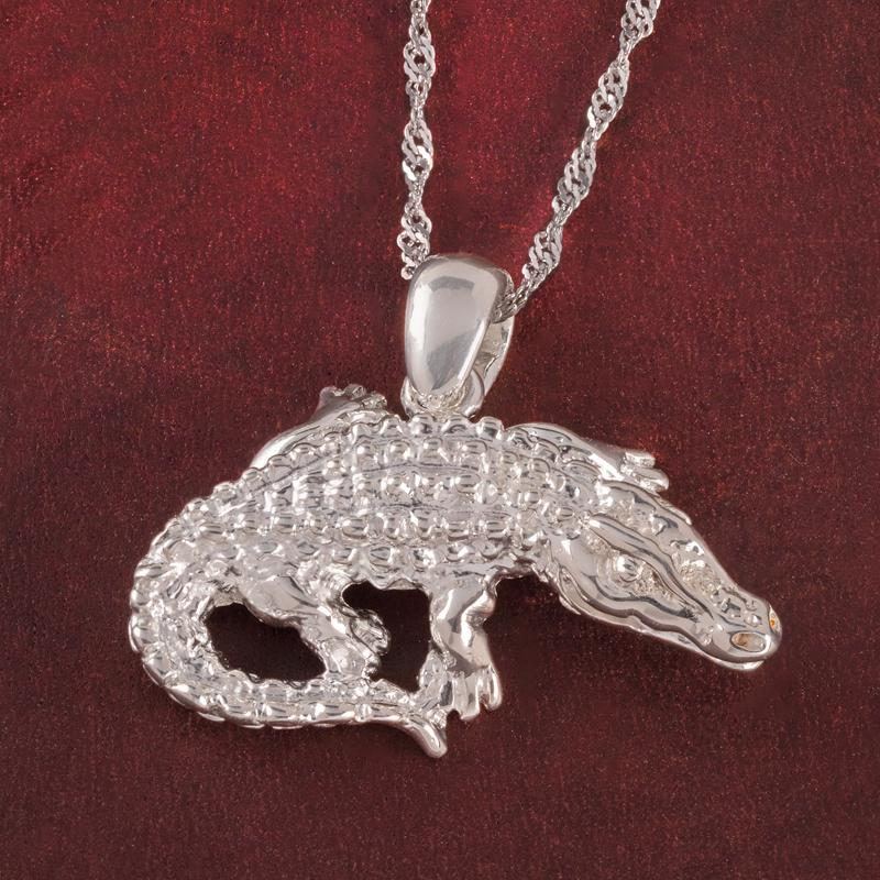 Italian Safari Alligator Pendant & Chain
