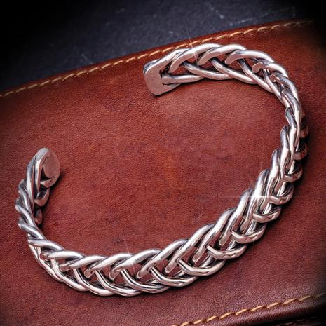 Men's Sterling Silver Heavy Metal Bracelet