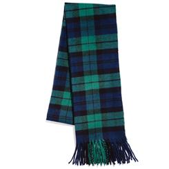 Cashmere Scarf (Green Plaid)