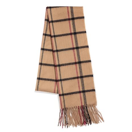 Cashmere Scarf (Cream Plaid)
