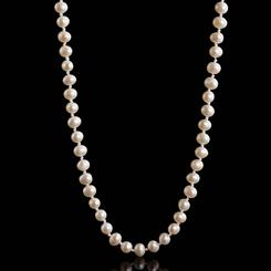"Classic Pearl Necklace (18"")"
