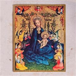 The Virgin of Rose Bush  Christmas Cards